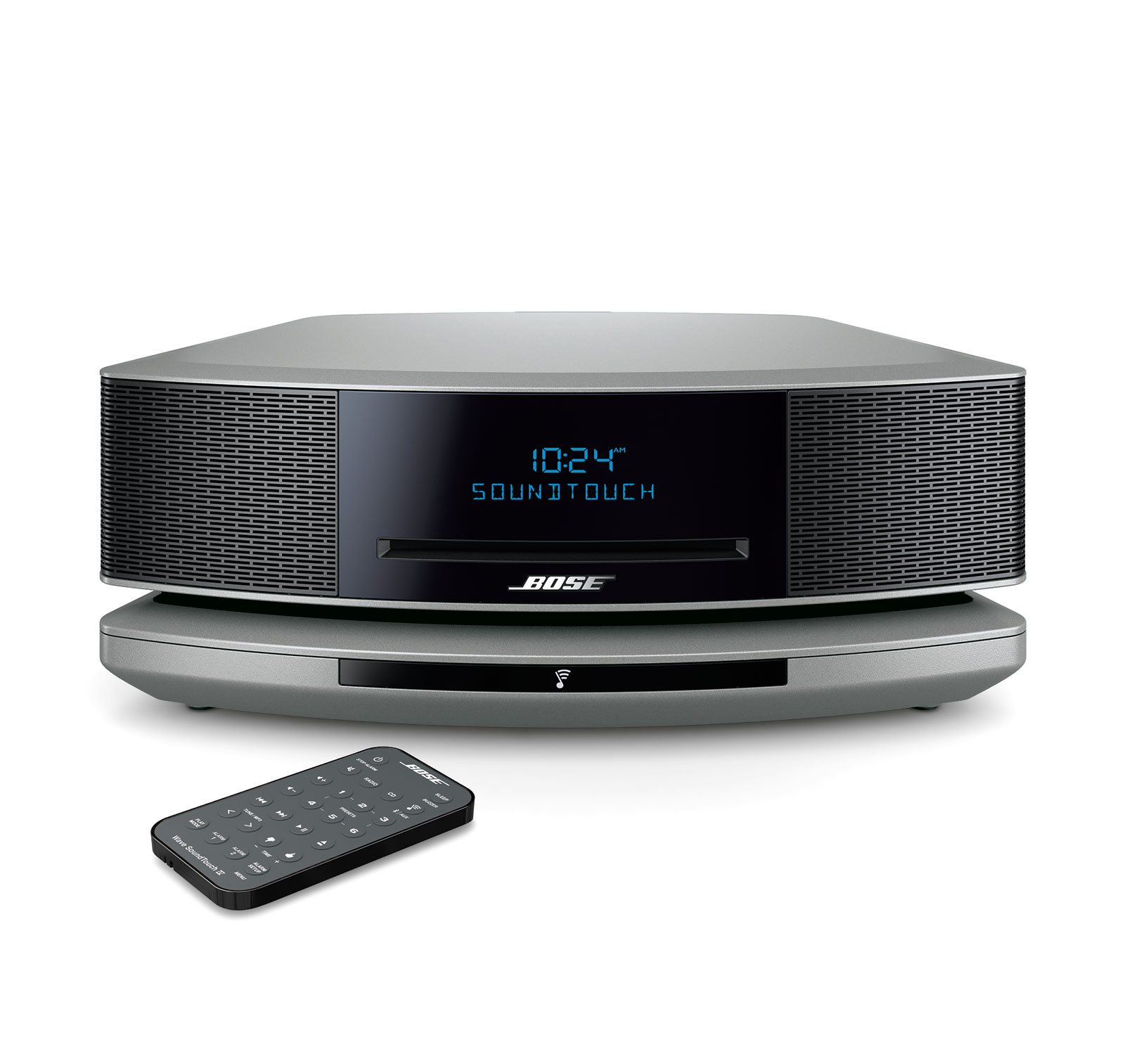 bose wave soundtouch music system iv silver ebay. Black Bedroom Furniture Sets. Home Design Ideas