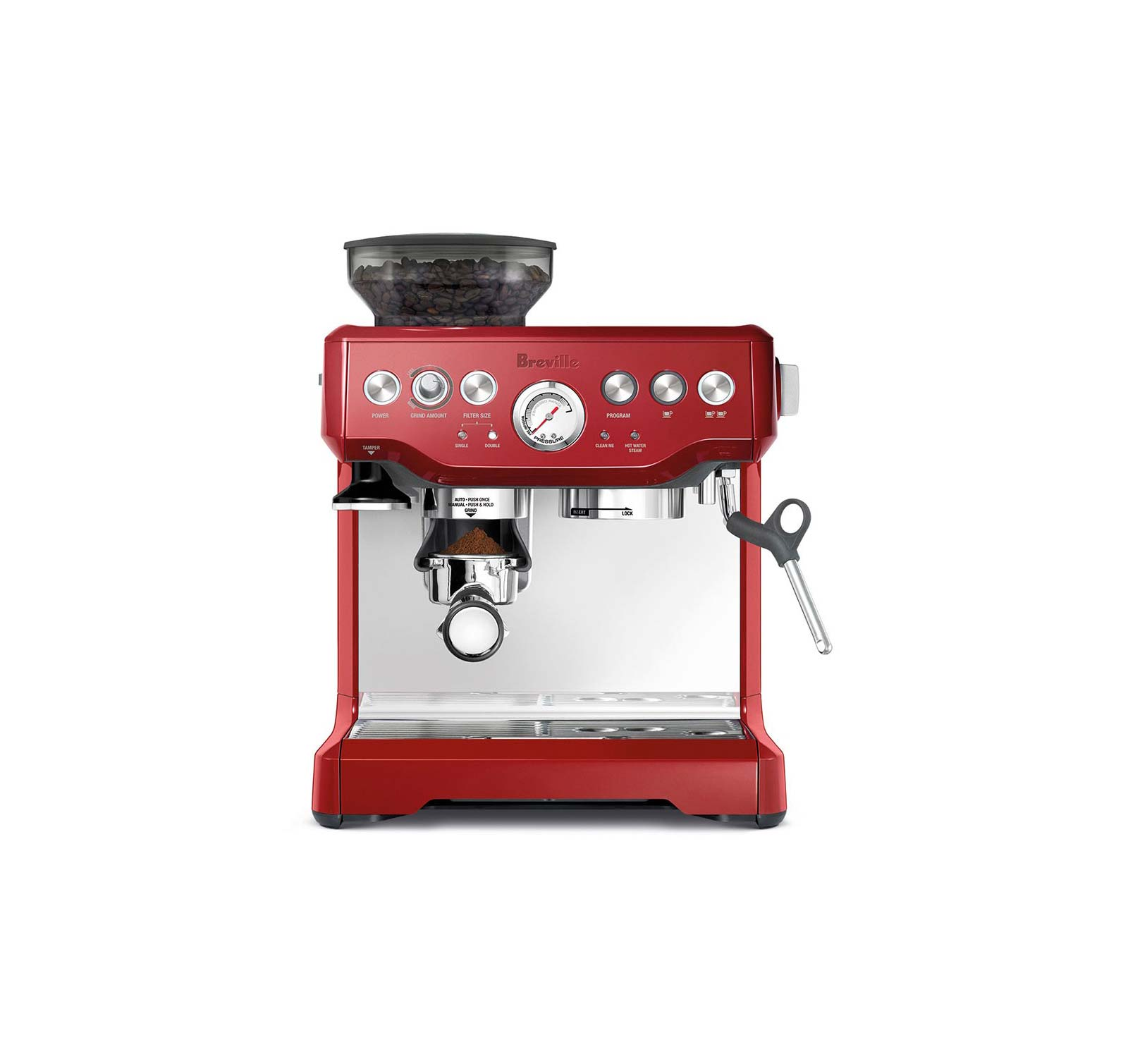 Breville Bes870cbxl Cranberry Barista Express Espresso