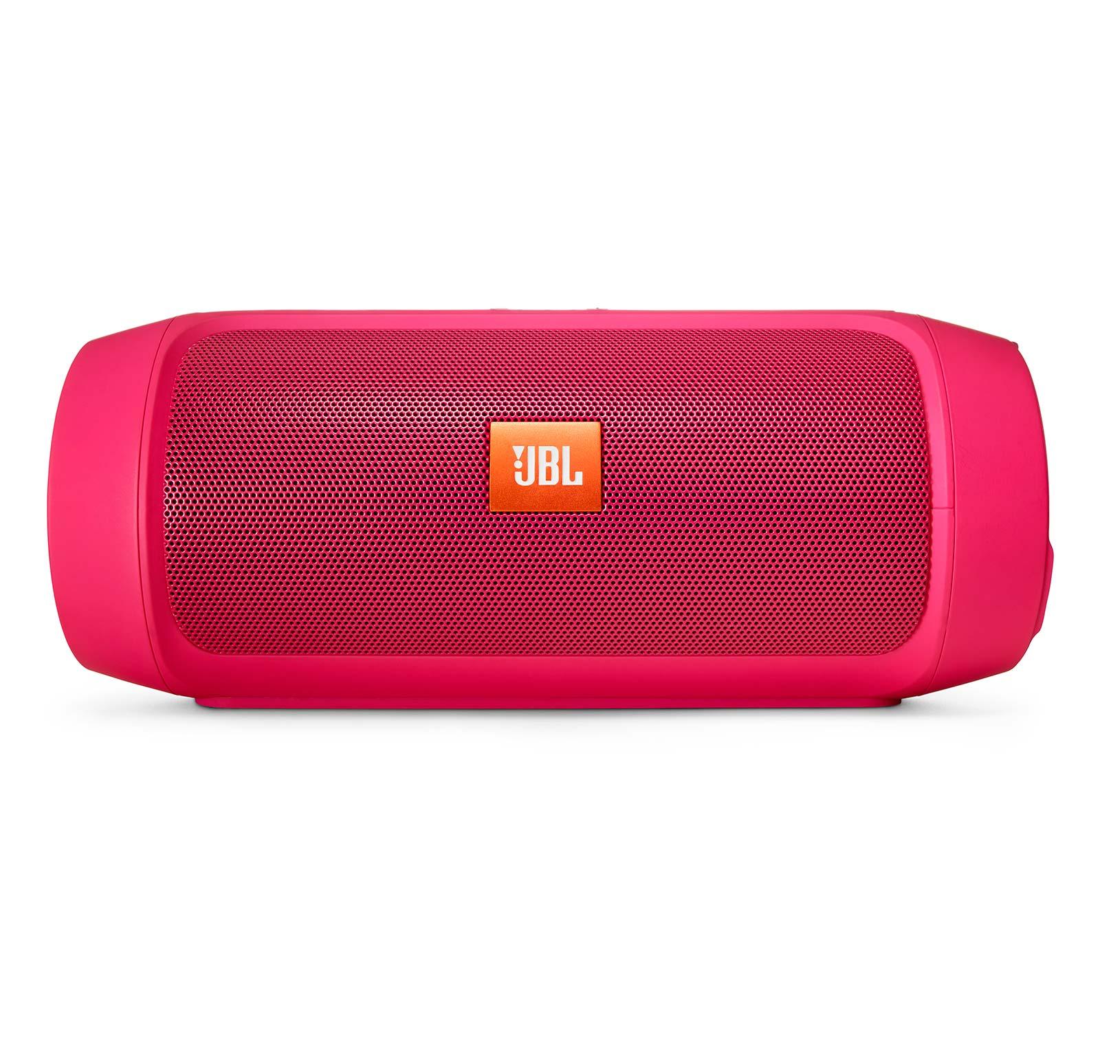 Portable Bluetooth Speaker Jbl Charge 2: JBL Charge 2 Plus Pink Splashproof Portable Bluetooth Speaker